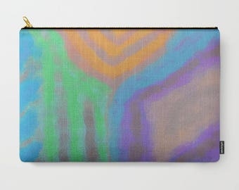 Colorful Abstract Art Clutch Bag Purse Handbag Cosmetics Bag Carry All Pouch