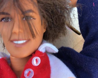 Brunette Ken Doll with Rooted Hair and Brown Eyes