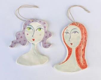 Lady Ceramic Ornaments