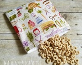 Gardening - Reusable Sandwich Bag | Snack Bag | Waterproof | Travel Bag from green by mamamade