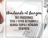 Handmade at Amazon Listing SEO Re-write Assistance Package