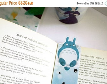 Totoro shaped bookmark - illustrated laminated bookmark