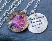 Daisy Cremation Pendant and Silver Tag