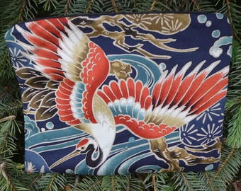 Crane Mahjongg card and coin purse, Crane Beauty, The Slide