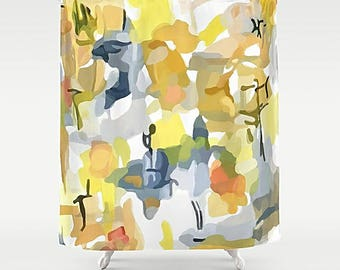 Shower Curtain Art Abstract Bathroom Modern Bath