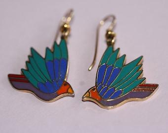 VINTAGE Laurel Burch CELESTE dangle earrings
