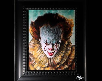 Pennywise - Original Drawing - Clown Stephen King Horror Fantasy Drama Comedy Monster Creature Scary Halloween Serial Killer Pop Art Ruff