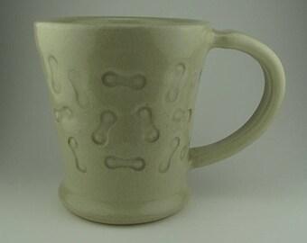 Handmade Pottery Ceramic Bike Link Mug By Powers Art Studio