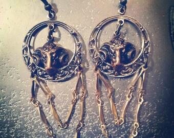 Ram Aries Hoop chandelier earrings