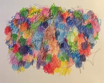 """Jelly Beans mixed media artwork on paper 14x17"""""""