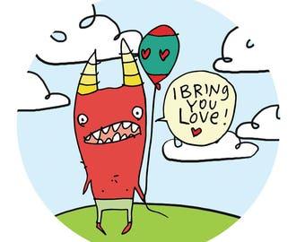 Bring You Love - vinyl sticker