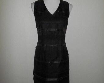 Closing Shop 40%off SALE Vintage 90s dress / silk lace black dresses / size small