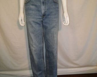 Closing Shop 40%off SALE LEVIS 550 Vintage 90s zip up denim high waist jeans Waist W 33   relaxed fit tapered leg mom jeans