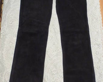 30% OFF Vintage Black Suede Pants Buttery Soft Leather High Waist Size 6