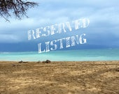 RESERVED LISTING - for Manu