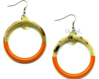 Horn & Lacquer Earrings - Q9777-O