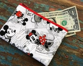 small cell phone change purse mickey and minnie