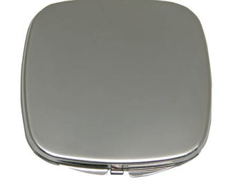 Purse Mirror Silver Plate Two Mirrors