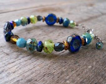 Beauty Gift for Her - Christmas Gift for Wife - Handmade Jewelry - Boho Bracelet - Beaded Bracelet - Womens Boho Bracelet - GB2017 Series