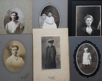6 Vintage Cabinet Cards