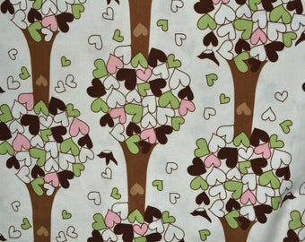 ROBERT KAUFMAN fabric CHIRP trees hearts Katie Hennagir #9795 quilting apparel home decor fabrics