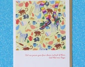 "PIPPI LONGSTOCKING ""unfettered pippi"" faerie tale feet blank greeting card with quote from astrid lindgren"