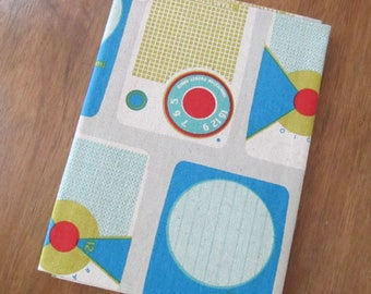 Ruby Star Rising - Melody Miller - Transistor Radios - cotton canvas fabric - fat quarter