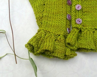 Handknit Chartreuse Fingerless Gloves. Teens. Girls. Womens. Hand-Dyed Merino Wool. Soft and Pretty.