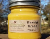 BAKING BREAD SOY Candle - Fresh Baked Homemade Bread - Popular Best Seller - Great Gift Idea - Hundreds Sold - Rustic Decor