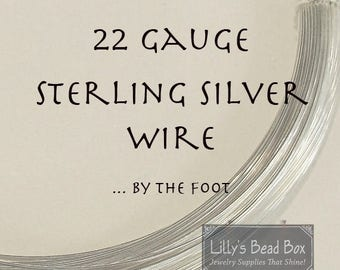 Summer SALEabration - 22 Gauge Sterling Silver Wire - By The Foot, Half Hard, Round Wire for Wire Wrapping Jewelry and Gemstones