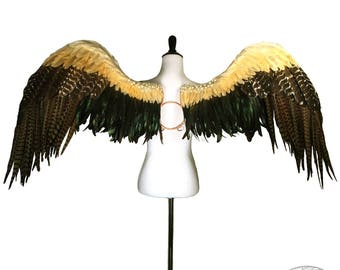 Spectacular Natural Feather Angel Wings