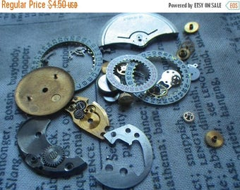 SALE 20% Off Watch Parts Lot 4 Plate Face Dials Gears and More As Shown About 20 Pcs