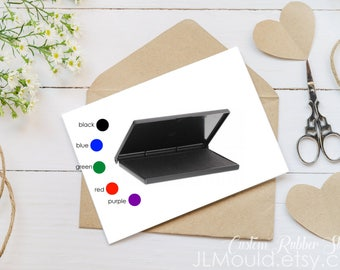 JLMould Rubber Ink Pad for your Rubber Stamps Permanent Trodat Dye  - Choose the Color and Size  up to 9x12 Custom Stamp