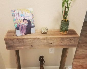 Console table Farmhouse Furniture Reclaimed Wood Table. Country Entry Table Eco Friendly Furniture. Thin Table. Small Table 28x6x30