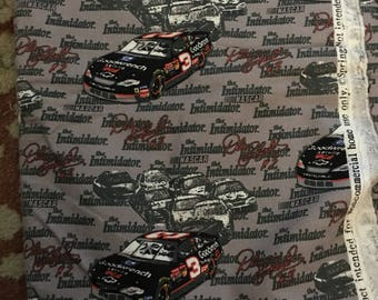 Springs Ind Flannel Fabric Dale Earnhardt # 3 Goodwrench Service Nascar  2 yards