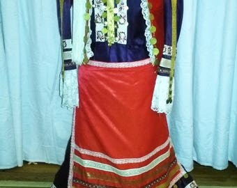 Vintage handmade Greek National Folk Costume, Amalia