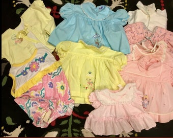 Vintage Baby Dress Lot 0-12 Months