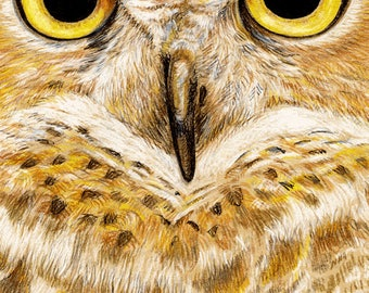 Great Horned Owl 11 x 17 inch Giclee Poster