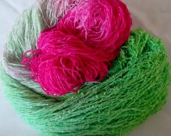 Handpainted Soft Rayon Chenille Yarn BUTTERFLY - 700 yards