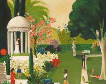 A Fainting In The Botanical Gardens. Art Print