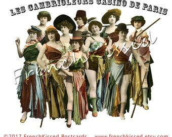 """Casino de Paris """"Burglars"""" Series Les Cambrioleurs Women in Funky Bohemian Costumes Two 8x10 Digi Pages PNG Cutouts"""