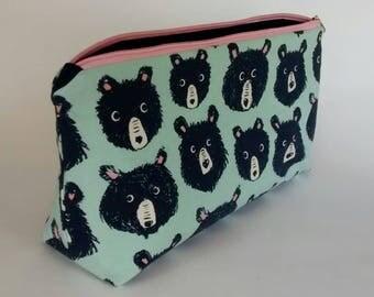 Bear - Zippered Pouch