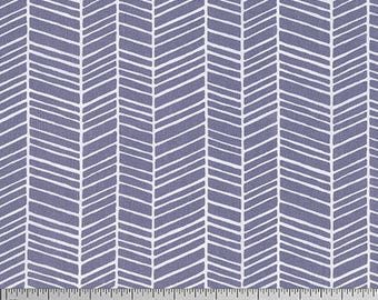 Joel Dewberry Fabric, True Colors Collection, Herringbone in Gray cotton quilting fabric -  FAT QUARTER SALE