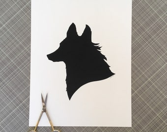 Fox Silhouette Papercutting