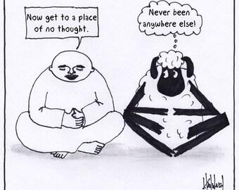 Thoughtless Sheep CARTOON
