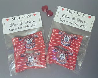 Wedding Favours, Mint To Be Favours, Sugar Free Favours, Sweet Favours, Diabetic Favours, Edible Favours, Wedding Favours UK, Personalised