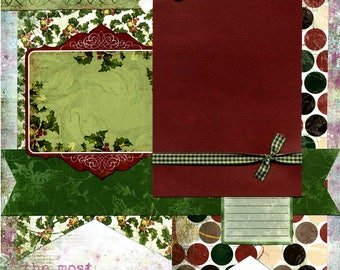 The Most Wonderful Time of the Year - Premade Christmas Scrapbook Page