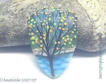 BY THE SEA...handmade lampwork bead by Anastasia...sra...ooak...