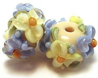 Primrose Periwinkle Ivory Floral Spacers