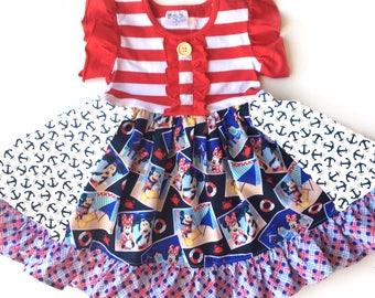Mickey Mouse Minnie Mouse dress Disney dress Momi boutique custom dress